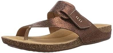 Clarks Perri Coast, Sandales Femme - Marron (bronze Metallic Leather), 36 EU