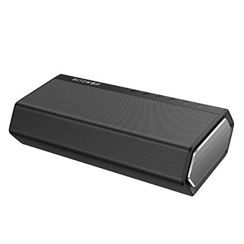 er, BlitzWolf 40W 5200mAh Dual-Treiber Wireless Drahtloser Tragbar Speaker 30W Verbesserter Bass Freisprech Aux-In Lautsprecher ()