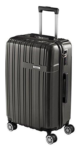 Valigia media sulema 67 cm, bagaglio aereo super leggero, trolley rigido e resistente in abs con 4 ruote doppie giro 360º lucchetto tsa