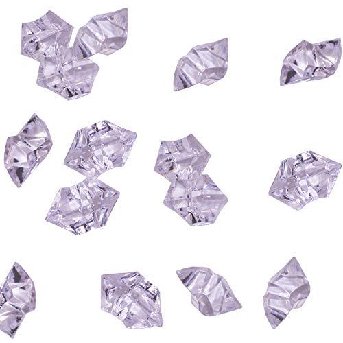KAKOO 120 Stück Dekosteine Acryl Kristall Streudeko Edelsteine Transparent Diamanten EIS Steine...