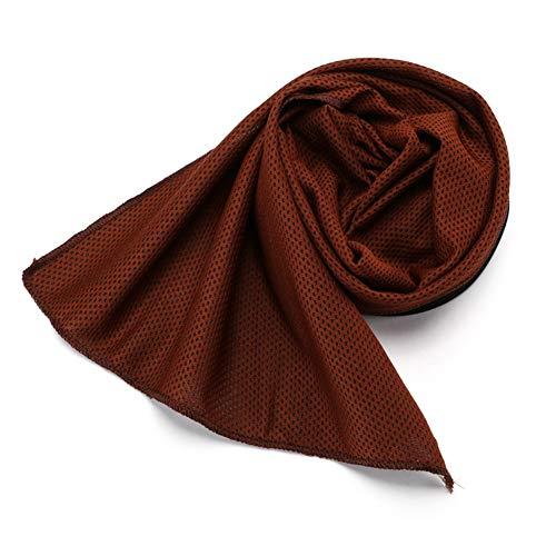 Kühlende Handtücher, kühlendes Handtuch für sofortige Abkühlungsentlastung in heißer Umgebung, hochwertiges Polyestergewebe, für die Reise Camping Golf Fußball & Outdoor-Sportarten (2-Pack),Brown