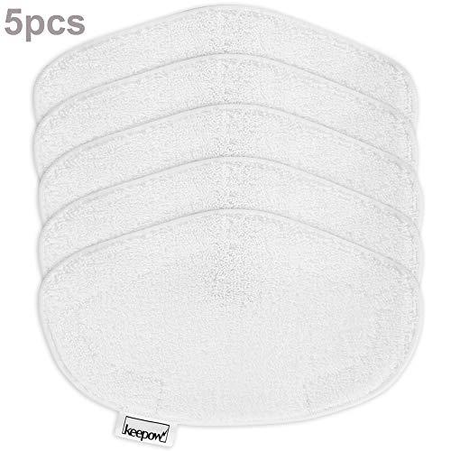 Keepow 5 panni lavabili per polti vaporetto paeu0332, bianche