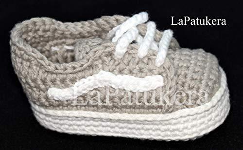 Patucos bebé. Crochet. Unisex. Estilo Wans. 100%
