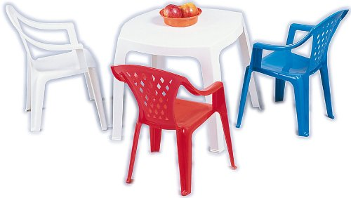 Plastica Alto Sele - ALEOSCAR - Jeu de Plein Air - Table Enfant Oscar - Blanc - 50 x 50 cm