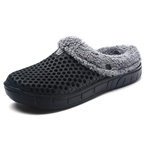 uirend Scarpe Pantofole Uomo - Ciabatte per Uomo Zoccoli Slip On Scarpe da  Giardino Foderate in 893ac50fa8b