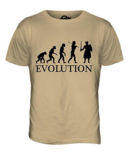 CandyMix Monarca König Evolution Des Menschen Herren T Shirt Sand