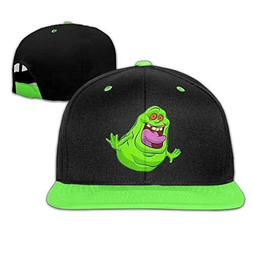 Bgejkos Ghostbusters Slimer Logo Unisex Kinder Hip-Hop-Mütze Baumwolle Cool QW513