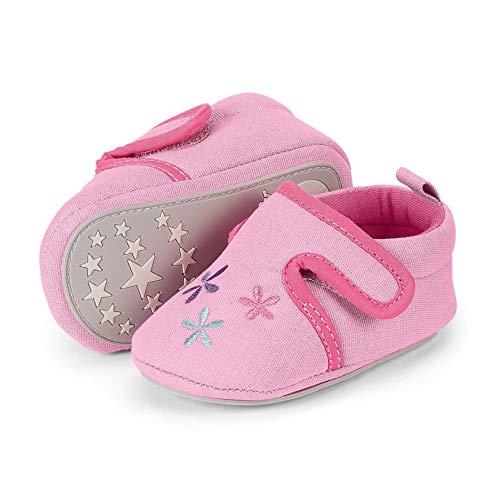 Sterntaler Mädchen Baby-Krabbelschuh Slipper Pink (Rosa 702) 20 EU