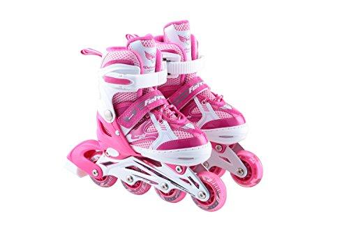 Keine Angst Sport Skate Kinder Einstellbare Männer Und Frauen All-Flash Skate Schuhe - Geschenke Für Kinder,Pink-M