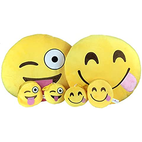 Emoji Cuscino Free portachiavi catena e morbido denaro Portafoglio Portamonete Smiley Fake Poop Throw cuscino emoticon Cute a forma di peluche Love Giallo Rotondo Marrone Set Regalo Grande giocattolo divertente Merchandise – Accessori tutto per bambini prime (Poop) Hungry & Cheeky