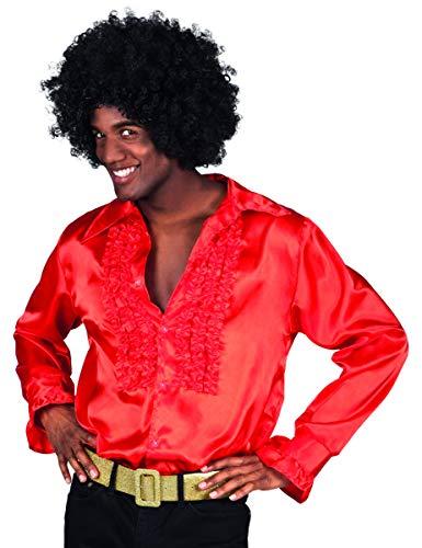 Theme Herren Party Kostüm 80's - Boland Hemd, Farbe Rot, 2111