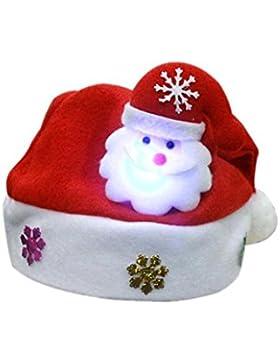 Mütze Familien, DoraMe Elternteil Kind LED Weihnachtshut Weihnachtsmann-Ren-Schneemann-Weihnachtsgeschenk-Kappe