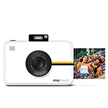 KODAK Step Touch Instant Camera with 3.5 Inch LCD Touchscreen Display (White) Bluetooth Printer with ZINK Technology, 1080p HD Video, 10x Zoom & KODAK App
