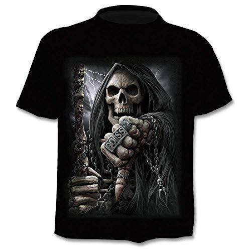 Camiseta Hombre Calavera - Gótica - Mangas Cortas - Divertidas -...