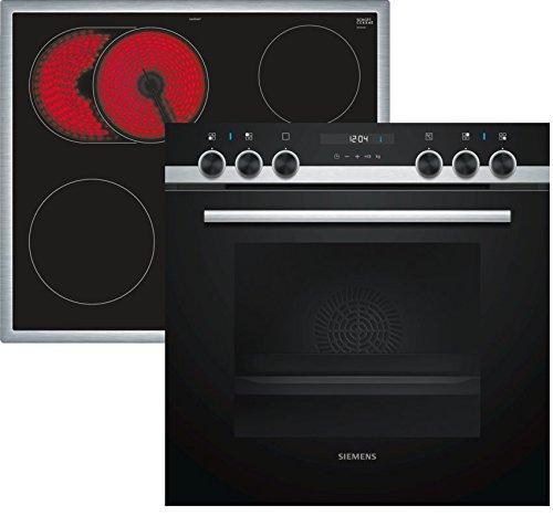 Siemens EQ521KB00 Herd-Kochfeld-Kombination / Einbau / 59,4 cm / Vier high Speed-Kochzonen / 3D-Heißluft / Schnellaufheizung / Pizzastufe