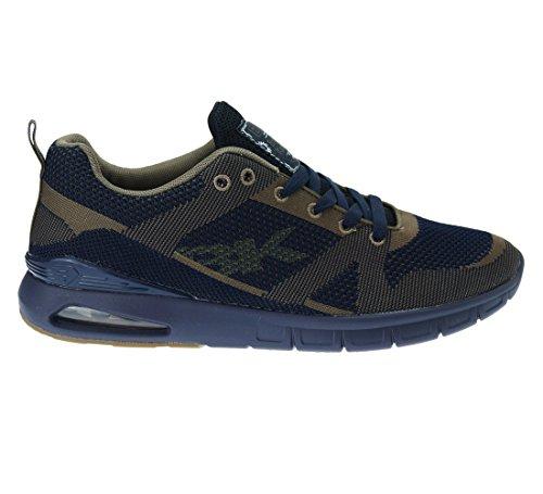 BK - Energy B36-3602-01 Navy-Khaki Damen Herren Sneaker Hellblau Schwarz Mädchen Jungen Navy / Khaki