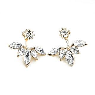 QHGstore Womens Kristallgänseblümchen-Blumen-Ohrringe nach hängenden Ohr-Bolzen-Schmucksache-Geschenken Gold