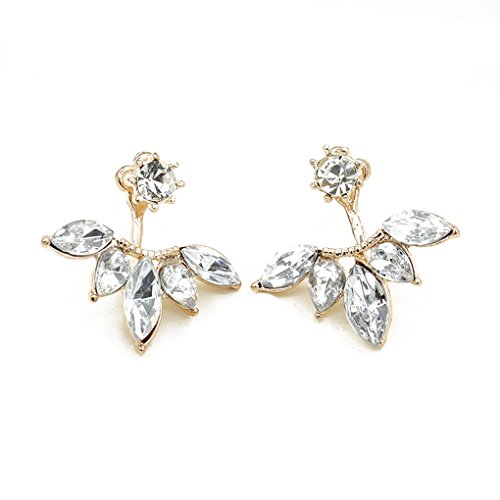 QHGstoreDonna di cristallo della margherita orecchini dei fiori dopo aver appeso Ear Stud gioielli regalo oro