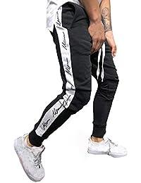YanHoo Pantalones de chándal Sueltos Ocasionales de la Aptitud del Deporte de los Hombres de la Moda Que activan Pantalones de Jogging Camuflaje Militar