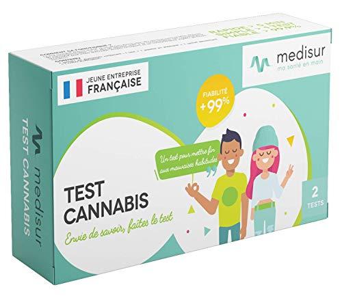 2 TESTS CANNABIS FRANÇAIS - FIABLE 99.9% - SIMPLE D'UTILISATION - PACK DE 2 TESTS - QUALITÉ...