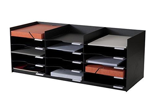 Paperflow 535.01 Briefkörbe, Ablagen, Stapelbar, Belegfächer, Zubehöre Sortierablage schwarz