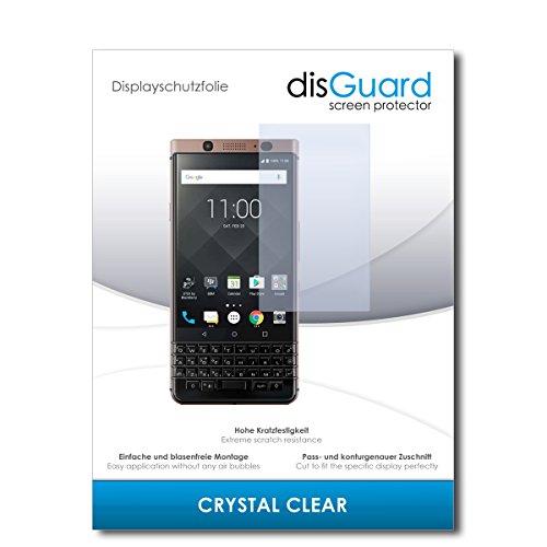 disGuard® Bildschirmschutzfolie [Crystal Clear] kompatibel mit BlackBerry KeyOne Bronze Edition [4 Stück] Kristallklar, Transparent, Unsichtbar, Extrem Kratzfest, Anti-Fingerabdruck - Schutzfolie