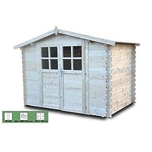 Abri de jardin bois 3x2m 28mm 6m²