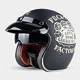 ZXW Vintage Helm Full Cover Motorrad Männer und Frauen Jahreszeiten Winter Windproof Sonnencreme...