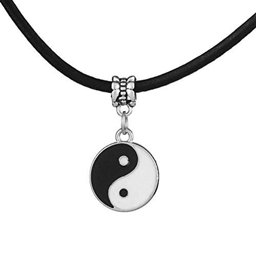 Wilk Vintage Estilo de la Moda Colgante de Yin y Yang Tai ChiDecorative Unisex Collar de decoración