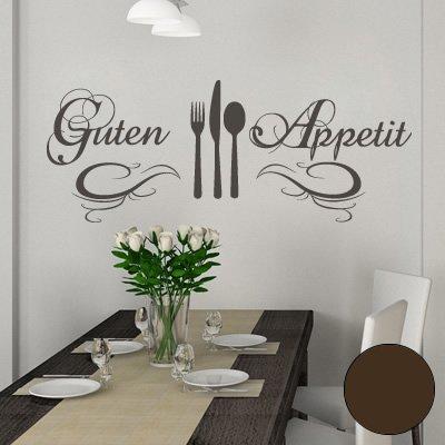 """A572 Wandtattoo \""""Guten Appetit\"""" 120cm x 47cm braun (erh. in 40 Farben und 3 Größen)"""