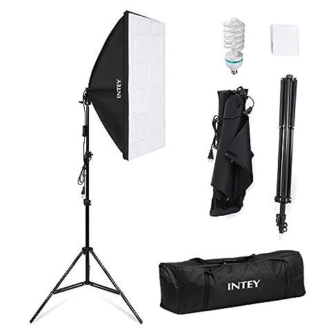 INTEY Photo Studio Softbox 50 x 70 cm avec Ampoule