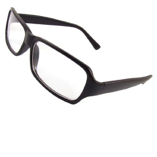 sourcingmap® Full-Frame-schwarz Arme Rechteckiger Klarglas Brillen für Herren de