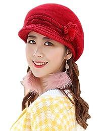 yiyioi Sombrero cálido de Invierno para Mujer con Gorro de Felpa y Sombrero  de Lengua de a46d1cde0bd