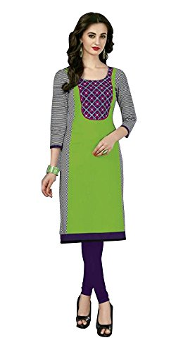 SD Fabrics Women's Cotton Unstitched Kurti (Multi-Color)