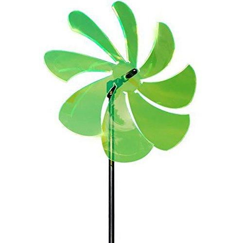 Elliot 1023001 Lichtzauber Windrad 25 cm, inklusive 100 cm Stab, grün