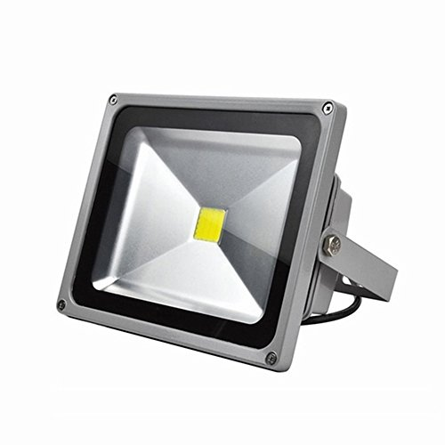 SAILUN 30W LED Fluter Strahler Licht Scheinwerfer Außenstrahler Wandstrahler Silber Aluminium IP65 Wasserdicht AC 85 - 265V WarmWeiß
