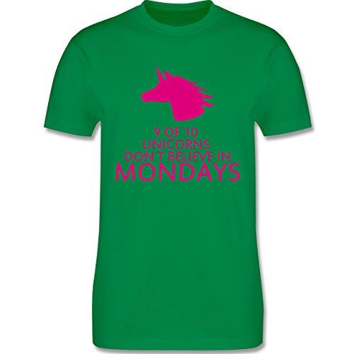 Nerds & Geeks - Einhorn - 9 of 10 unicorns don´t believe in mondays - Herren Premium T-Shirt Grün