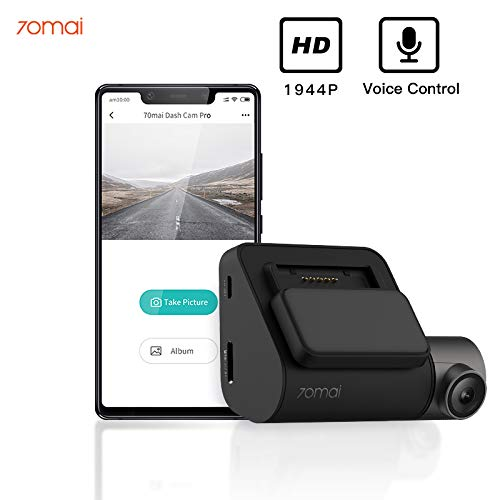 70mai Dash Cam Pro 1944P FHD Front Car Dash Camera with Voice Control Parking Monitor APP Control Dashboard Camera Recorder WDR G-Sensor 140° Wide Angle Car Smart DVR with Night Vision (No GPS Ver)