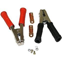 Aerzetix 3800946602972 Paire de Pinces Crocodile pour Chargeur Batterie Démarreur Rapide 600A