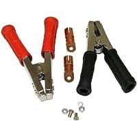 Aerzetix 3800946602972- Par de pinzas cocodrilo para cargador batería de arranque rápido, 600A