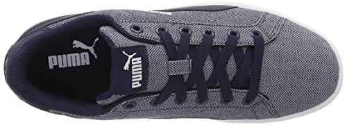 Puma Smash Herringbone, Sneakers Basses Mixte Adulte Bleu (Peacoat-peacoat 01)
