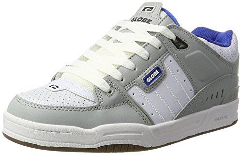 Globe Herren Fusion Skateboardschuhe, Mehrfarbig (Grey/Blue/White), 45 EU (Schuhe Fusion Männer)