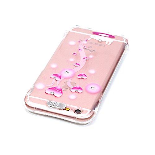 """Coque iPhone 6S Plus, MOONCASE iPhone 6 Plus Etui Ultra Mince Coque Housse Silicone Parfait Cover Case avec Absorption de Choc pour iPhone 6 Plus(2014) / 6s Plus(2015) 5.5"""" - YX03 Série de diamants - YX04"""