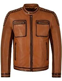 c442dfd0b96 Amazon.fr   Blouson cuir - Manteaux et blousons   Homme   Vêtements