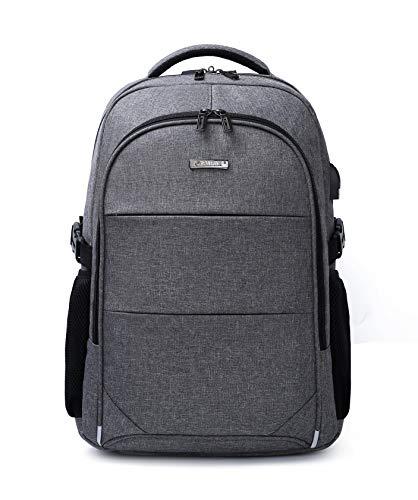 Sac à Dos pour Ordinateur Portable 15,6 Pouces Business Daypack Sac avec Port USB de Chargement Ordinateur Sac à Dos Grand Compartiment Sac d'école po...