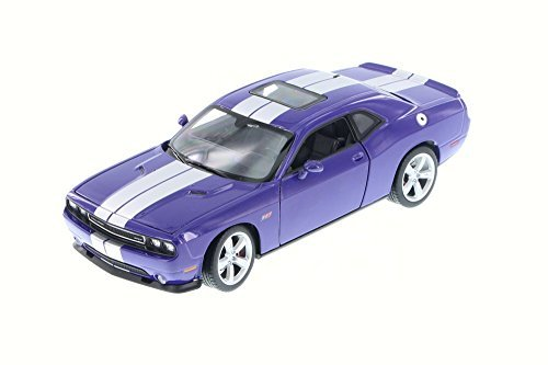 2013-dodge-challenger-srt-purple-welly-24049-1-24-scale-diecast-model-toy-car-by-welly