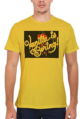 Vanilla is Boring Joke Cool Funny Hipster Men Women Damen Herren Unisex Top T Shirt Licht Gelb