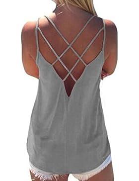 Blusas Camisetas Mujer K-Youth Camisetas Tirantes Mujer Tallas Grandes Verano Camisetas Mujer Originales Elegante...