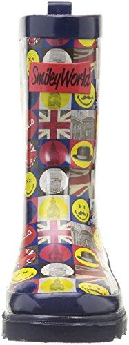 Be Only Smiley London, Bottes de Pluie Mixte Enfant Bleu
