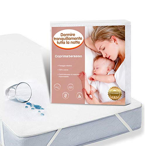 Muhoo coprimaterasso impermeabile matrimoniale, proteggi materasso traspirante, anallergico, antiacari - copri materassi con trattamento nuova generazione-160x200cm